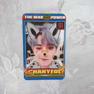 EXO CHANYEOL THE POWER OF MUSIC PHOTOCARD PC