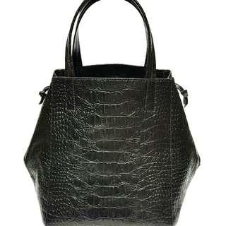 Croco Leather Handmade Origami Bag