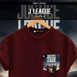Justice League Pocket Tees