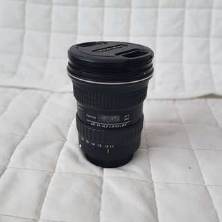 Tokina atx 11-16mm f2.8 wide angle for canon