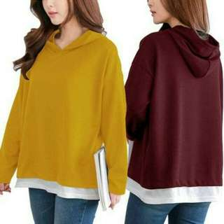 Chelsea Hoodie Tea / Baju Atasan Wanita /Baju Lengan Panjang
