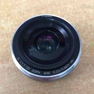 Panasonic Lumix 20mm F1.7 II Silver ASPH