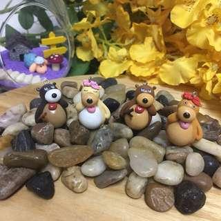 Terrarium accessories miniature bears