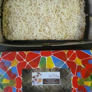 Homemade Yema Cake