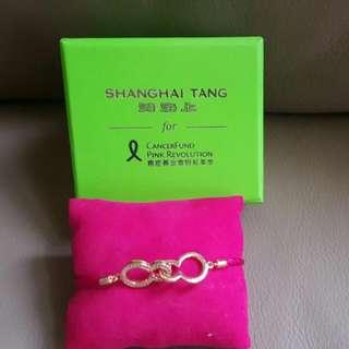 Shanghai Tang CancerFund Pink Revolution Crystal Bracelet