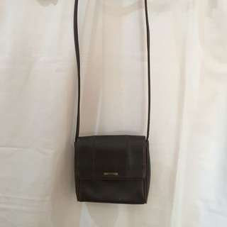 Nine West Brown Leather Crossbody