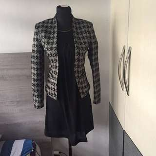 Mango Office dress and H&M blazer