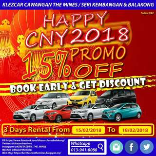 Promosi Kereta Sewa Chinese New Year 2018