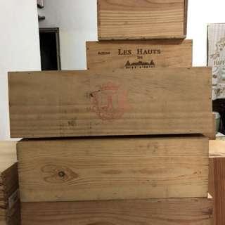 長型 紅酒木箱 有蓋 扣鎖型 可自取 須自行整理