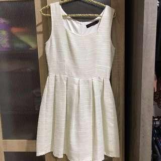 White glitter dress