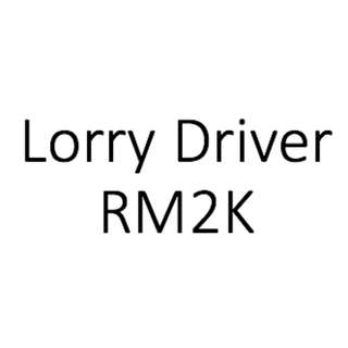 Full Time Driver Needed (up to RM2K)