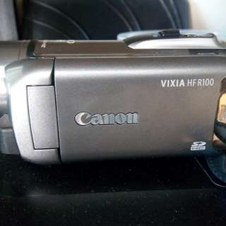 Canon Vixia HF R100 with Case Logic Case