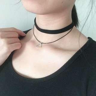 三角雙頸鍊