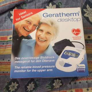 Geratherm Desktop Reliable Blood Pressure Monitor for Upper Arm