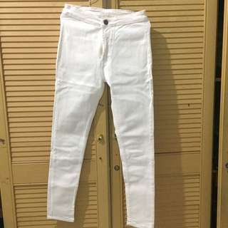 White jeans high waisted
