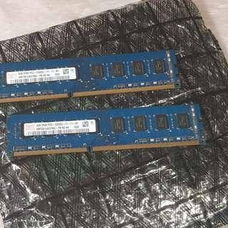 Hynix 8GB(2 × 4GB) DDR3 Ram