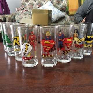 Nutella Justice League glass set of 8