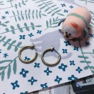 古銅色耳環