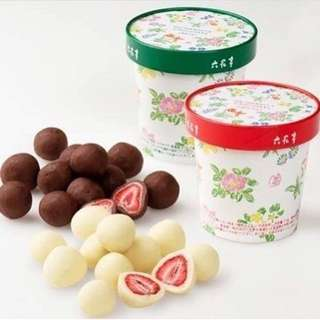 六花亭 草莓夾心巧克力  黑/白  2盒