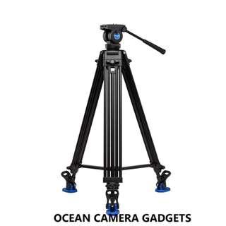 Benro KH26 Professional Studio Video Tripod & Fluid Head Kit Aluminum tripod Tandem Legs