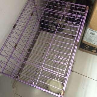 Kandang cage ungu