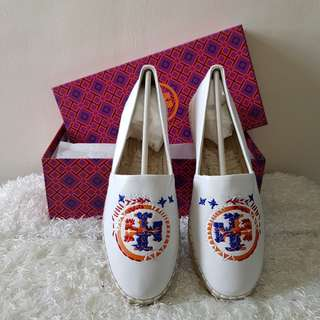 Authentic Tory Burch Daley Logo Espadrilles Shoes, US7 & US8