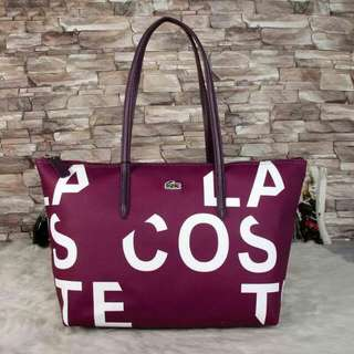 Lacoste Tote Bag Purple Color