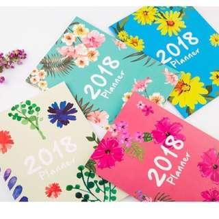 Korean Trendy Summer Floral Travel Journal Bucket List Stationery 2018 Monthly Planner