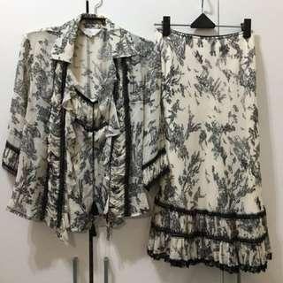 貝爾尼尼專櫃品牌蠶絲材質套裝組