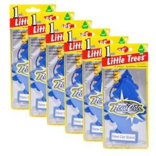 Little Trees Car Freshener New Car Scent (Blue) Bundle of 6)