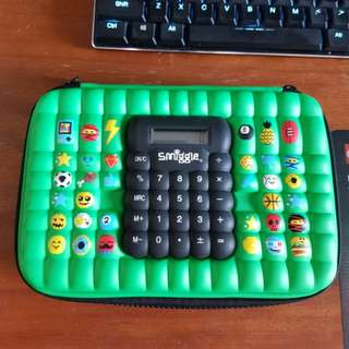 Smiggles Pencil case with calculator