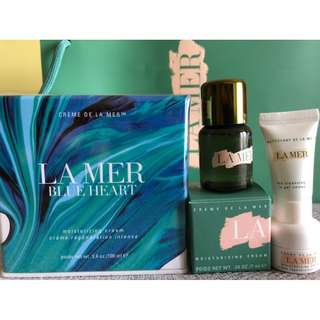 Creme De La Mer Blue Heart Moisturizing Cream Limited Edition 100ml with Travel Set