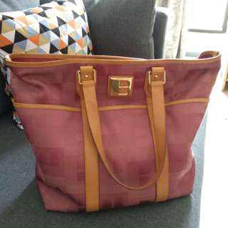 Authentic Bally bag in nude pink