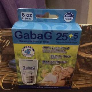 Gabag Breastmilk Storage Bags 180ml