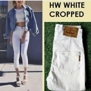 Hw cropped jeans