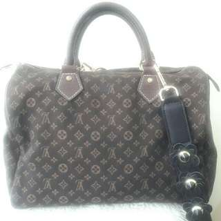 Authentic Louis Vuitton Minilin Brown Speedy-Rare items Sz30cm🍒🎀🎁