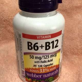 Webber. B6+B12 vitamin 維他命丸