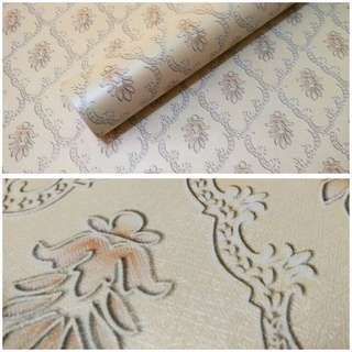 Wallpaper sticker batik cream