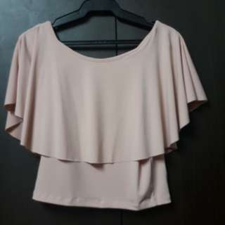 Peach off shoulders blouse