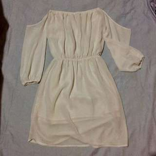 Off-Sholder White Dress