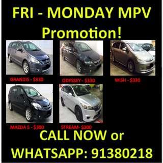 Long Term Rentals MPVs 7-8 seaters