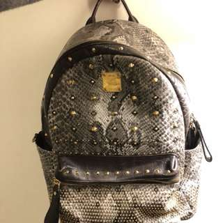 MCM leather backpack