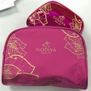 Godiva粉紅Pouch (1套2件)