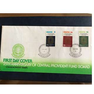 1 Jul 1980 First Day Cover 25th Anniversary of CPF Board Singapore