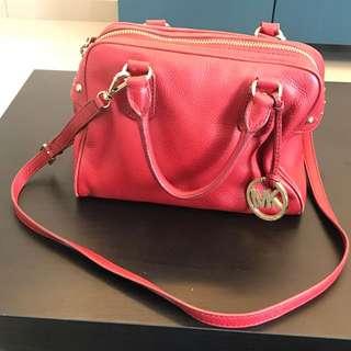 Michael Kors Red Satchel Bag (Preloved)