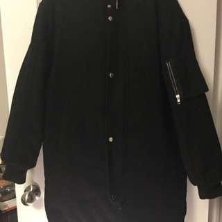 Long padded bomber jacket size S-M