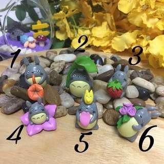 Terrarium accessories miniature Totoro figurines large