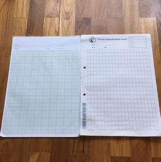 Graph paper and Chinese foolscap