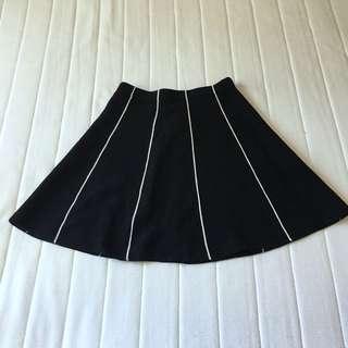 Black & white stripe zara skirt