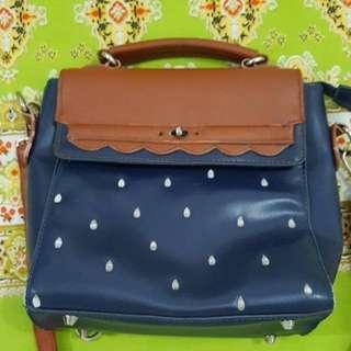Strawberry bag blue